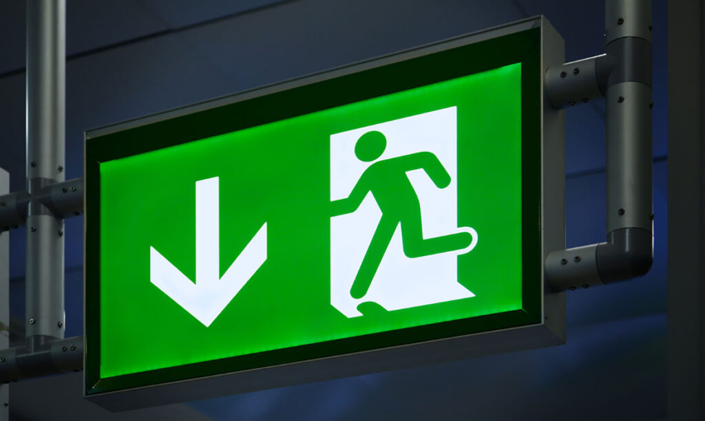 JHP Electrical emergency lighting sign